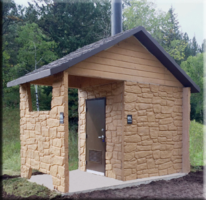 Clovermist Vault Toilet - Boom Concrete